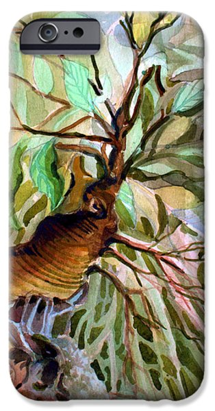 Ancient Roots IPhone Case by Mindy Newman