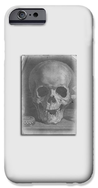 Ancient Skull Tee IPhone Case by Edward Fielding
