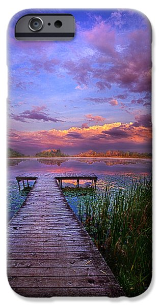 And Silence IPhone Case by Phil Koch