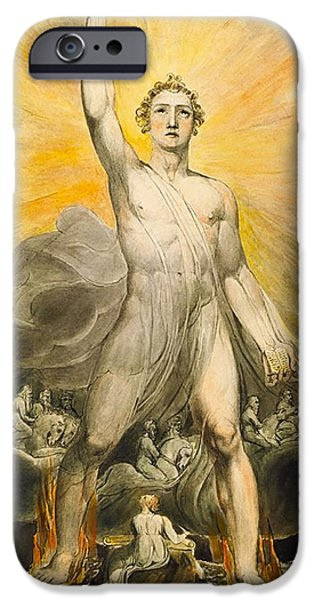 Angel Of Revelation IPhone Case by William Blake