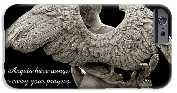 Angels Wings - Inspirational Angel Art Photos IPhone Case by Kathy Fornal