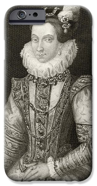 Anna Of Austria, 1549 To 1580. Queen IPhone Case by Vintage Design Pics