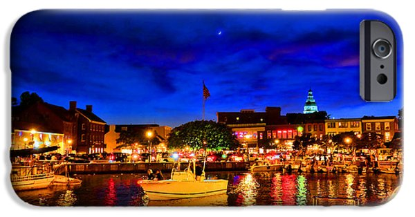 Annapolis Magic Night IPhone Case by Olivier Le Queinec