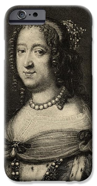 Anne Of Austria, 1601-1666. Queen IPhone Case by Vintage Design Pics