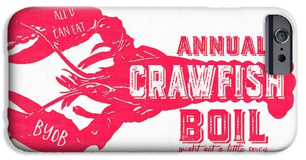 Annual Crawfish Boil Poster IPhone Case by Edward Fielding