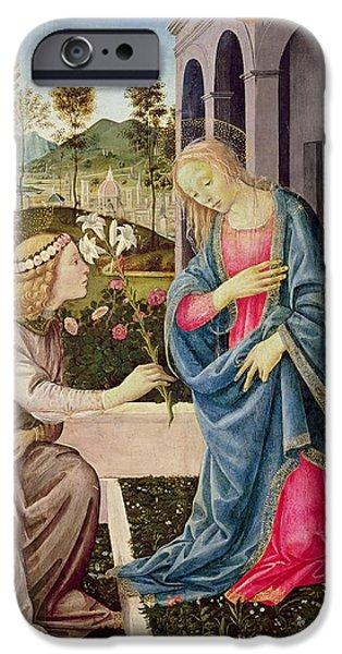 Annunciation With Saint Joseph And Saint John The Baptist IPhone Case by Filippino Lippi