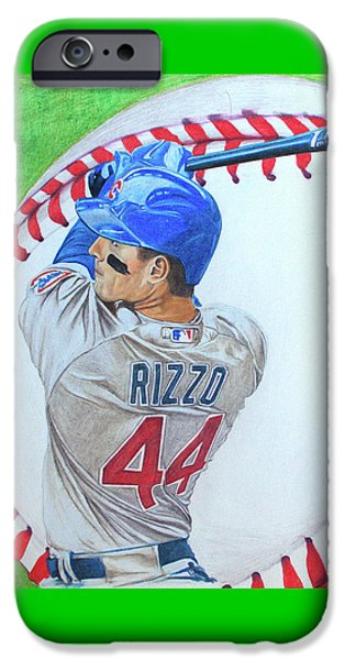 Anthony Rizzo 2016 IPhone Case by Melissa Goodrich