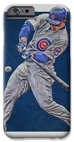 Anthony Rizzo Chicago Cubs Art 1 IPhone 6s Case by Joe Hamilton