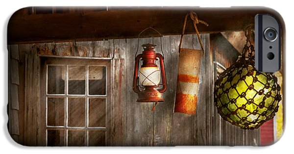 Antique - Hanging Around IPhone Case by Mike Savad