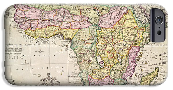 Antique Map Of Africa IPhone 6s Case by Pieter Schenk