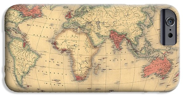 Antique Map Of The British Empire Circa 1870 IPhone 6s Case by English School