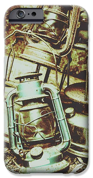 Antique Oil Lantern Fine Art IPhone Case by Jorgo Photography - Wall Art Gallery