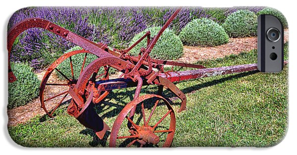 Antique Plow And Lavender IPhone Case by Olivier Le Queinec