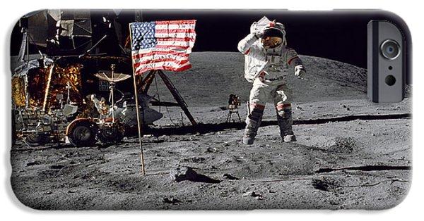 Apollo 16 Astronaut Leaps IPhone Case by Stocktrek Images