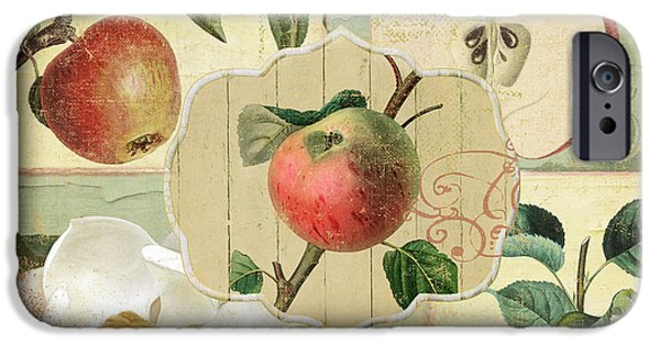 Apple Blossoms Patchwork IIi IPhone Case by Mindy Sommers