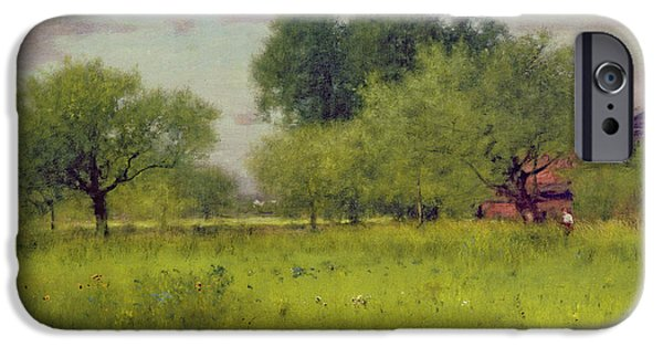 Apple Orchard IPhone Case by George Snr Inness