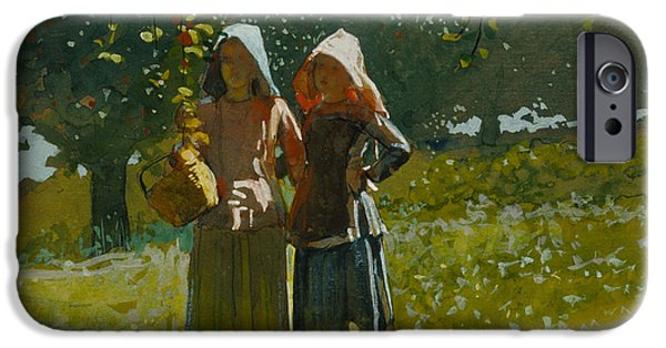 Apple Picking IPhone Case by Winslow Homer