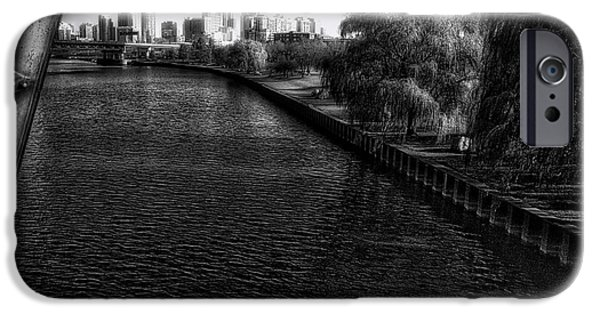Approaching The City Bw IPhone Case by Thomas Woolworth