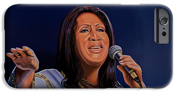 Aretha Franklin Painting IPhone 6s Case by Paul Meijering