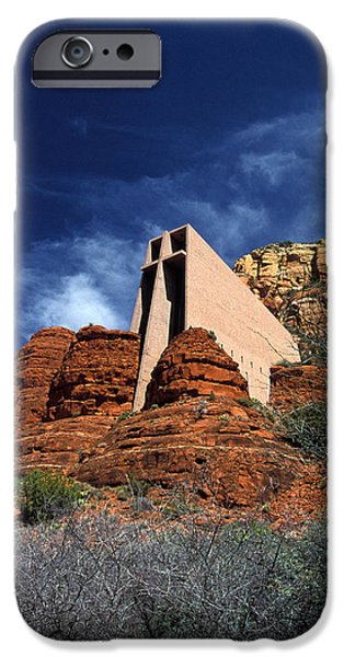 Arizona, Sedona  Chapel Of The Holy Cross IPhone Case by American School