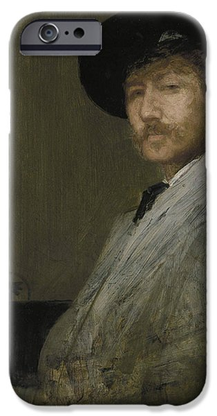 Arrangement In Gray Portrait Of The Painter IPhone Case by James Abbott McNeill Whistler