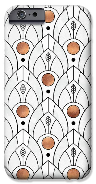 Art Deco Leaves 1 IPhone 6s Case by Elisabeth Fredriksson