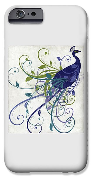 Art Nouveau Peacock I IPhone Case by Mindy Sommers