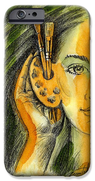 Art Of Listening IPhone Case by Leon Zernitsky
