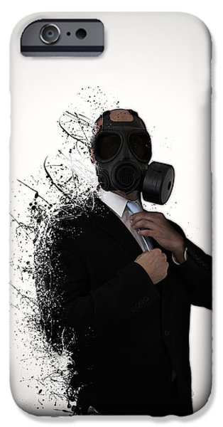 Dissolution Of Man IPhone Case by Nicklas Gustafsson