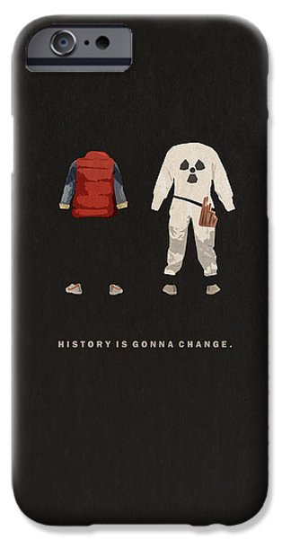 Back To The Future IPhone Case by Alyn Spiller