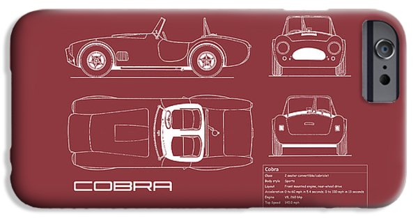 Ac Cobra Blueprint - Red IPhone 6s Case by Mark Rogan