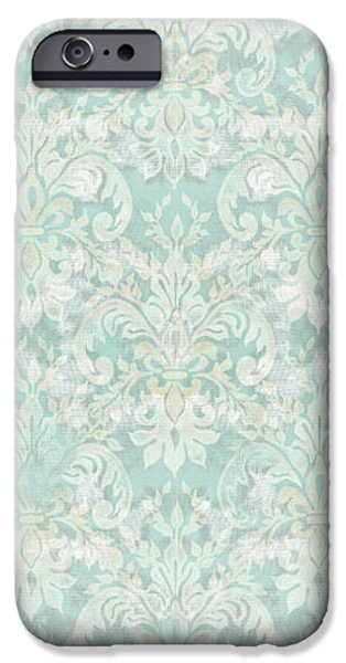 Welcome To Our Nest - Bath Vintage Birds W Crown IPhone Case by Audrey Jeanne Roberts