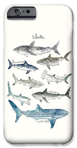 Sharks IPhone 6s Case by Amy Hamilton