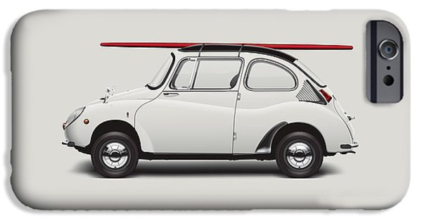 1969 Subaru 360 Young Ss - Creme IPhone Case by Ed Jackson