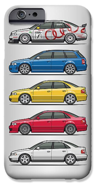 Stack Of Audi A4 B5 Type 8d IPhone Case by Monkey Crisis On Mars