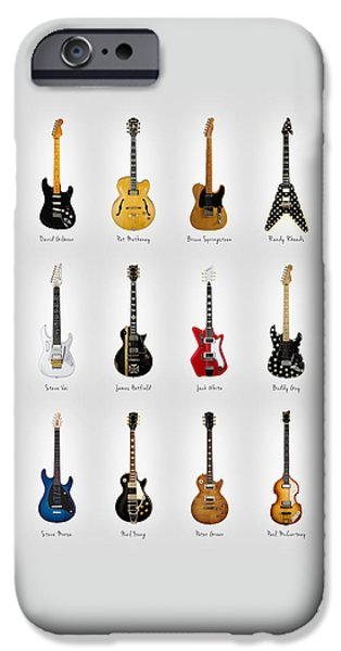 Guitar Icons No2 IPhone Case by Mark Rogan