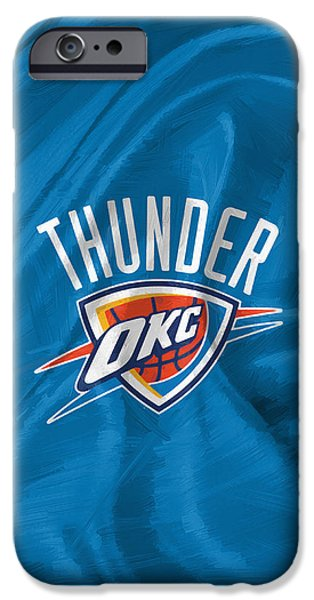 Oklahoma City Thunder IPhone Case by Afterdarkness
