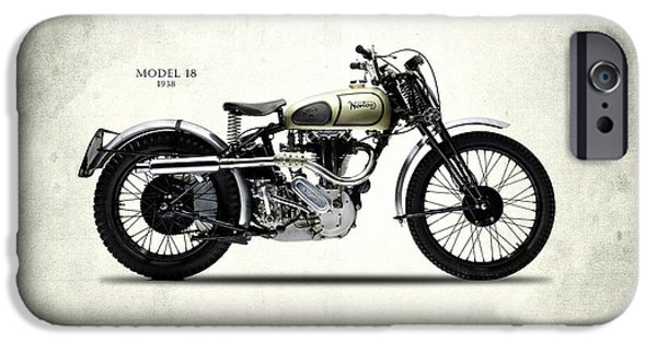 Norton Model 18 Trials 1938 IPhone Case by Mark Rogan