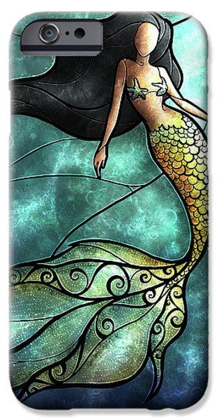 The Mermaid IPhone Case by Mandie Manzano