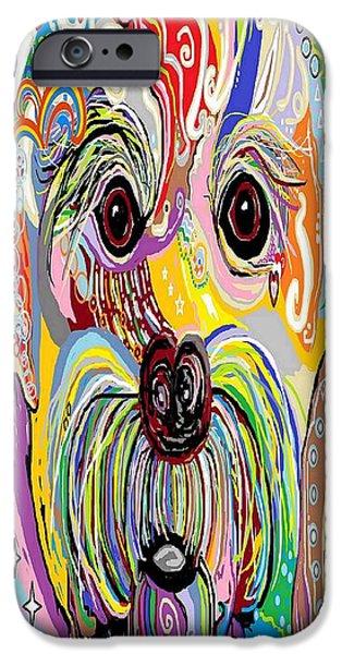 Maltese Puppy IPhone Case by Eloise Schneider
