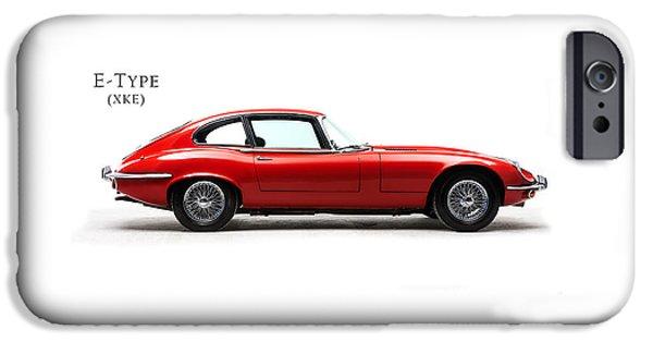 Jaguar E Type IPhone Case by Mark Rogan