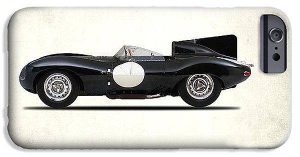 Jaguar D-type IPhone Case by Mark Rogan