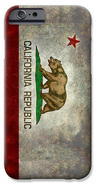 California Republic State Flag Retro Style IPhone 6s Case by Bruce Stanfield