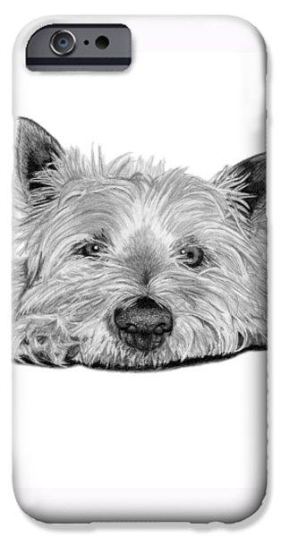 Little Dog IPhone Case by Sarah Batalka