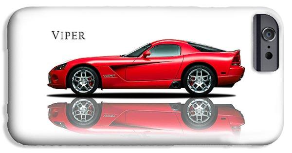 Dodge Viper IPhone Case by Mark Rogan