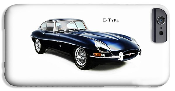 E Type Jaguar IPhone Case by Mark Rogan