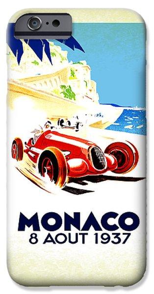 Monaco 1937 IPhone Case by Mark Rogan