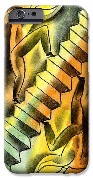 Ascending And Descending IPhone Case by Leon Zernitsky