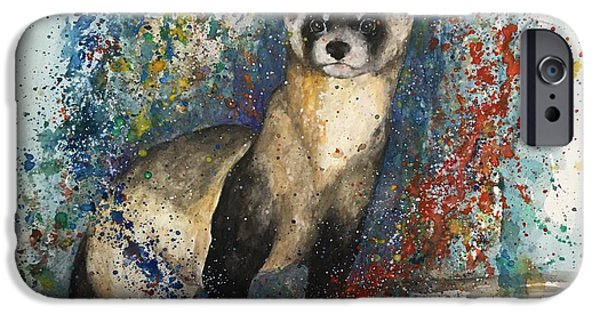Asher's Ferret IPhone Case by Morgan Adams
