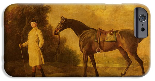 Assheton, First Viscount Curzon, And His Mare Maria IPhone Case by George Stubbs